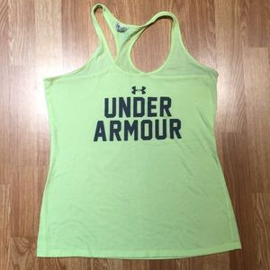 Like green Under Armour tank